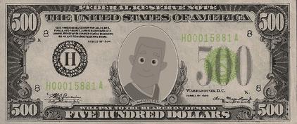 Gisteo Guy $500 Bill